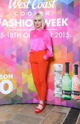 Clarie Gunn in a Neon Pink Blouse, Stylist's Own, Orange Trouser, £35.00 @ Marks and Spencer @ West Coast Cooler FASHIONWEEK