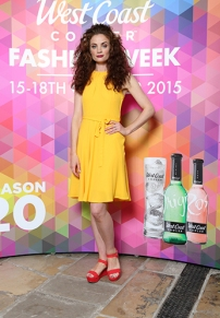 Colette O'Neil in a Yellow Belted Dress, £35.00 at Dorothy Perkins @ CastleCourt @ West Coast Cooler FASHIONWEEK