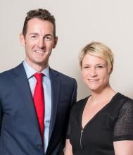 Colum McLornan and Claire Hunter