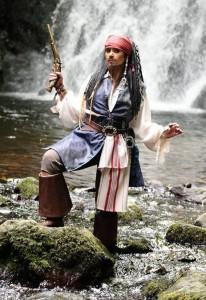 Amanda Large as Captain Jack Sparrow