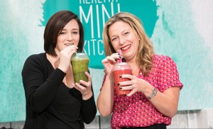 Claire Scott, manager of Slim's Healthy Kitchen joins Victoria Square centre manager Michelle Greeves