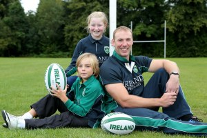 Stephen Ferris with Ben Ballentine and Rhianna-Katie Paul
