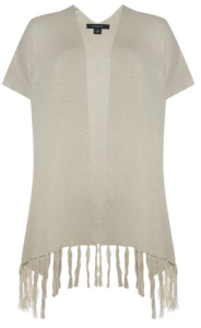 11. Stone Fringe Short Sleeve Cape