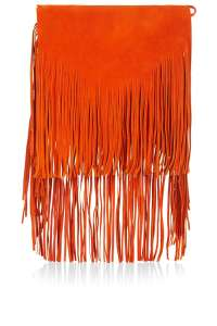 6. Premium Suede Fringe Shoulder Bag