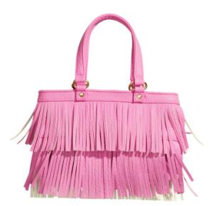 7. Pink fringe handbag
