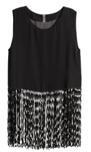 8. Fringed chiffon top
