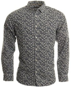 Brave Soul Navy Printed Shirt, £21.99 @ DV8