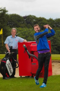 Mark Eccles, Grant NI and Ross Oliver, Assistant Pro, Galgorm Castle Golf Club
