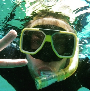 Johnny at the Great Barrier Reef in Australia