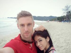 Johnny with girlfriend Jaa