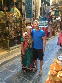 Johnny with his mum in Tunis