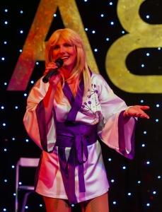 Karen as Agnetha in Bjorn Identity