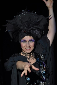 Karen as Wicked Spectra in Sleeping Beauty at The Market Place Theatre 2012