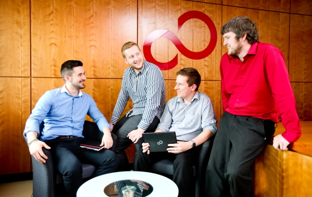 Fujitsu apprentices Adam Moran; Brandon Evans; Eamon O'Neill and Liam Hegarty
