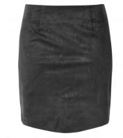 GLAMOROUS - BLACK SUEDETTE SKIRT - £26.99