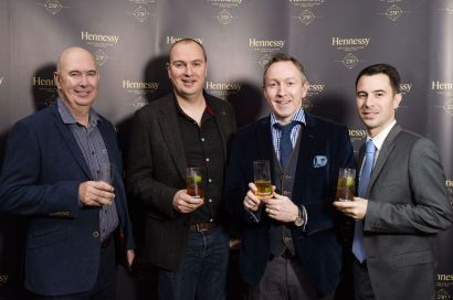 Aidan McParland, Greg Elliott, Greg Hughes from Dillon Bass and Vincent Borjon Prive from Hennessy