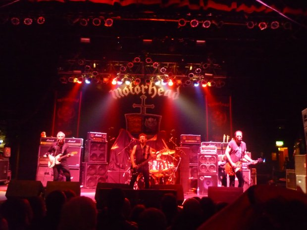 Sweet Savage on stage supporting Motorhead in 2009 in Dublin. Pictured are Ian Speedo Wilson left), Ray Haller centre and Tommy Fleming right