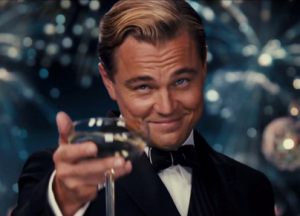 DiCaprio in The Great Gatsby