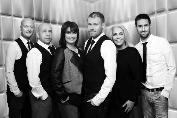 Greg, Davey, Elish, Paul, Elayne and Glen of The Collective Wedding Band